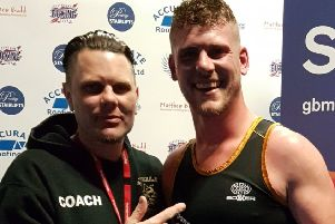 Steve Garlick with Bexhill ABC coach Terry Freeman