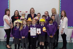 Hastings and Rye MP Amber Rudd presented  the school with its award on Friday, April 5