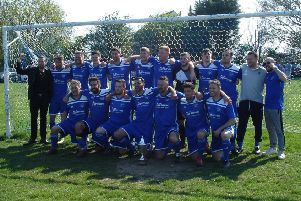 Sidley United celebrate after winning the East Sussex Football League Premier Division title