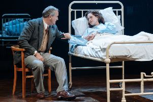Hugh Bonneville and Liz White in Shadowlands. Photo: Manuel Harlan