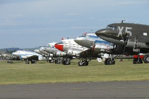 The aircraft preparing for the historic flight at Duxford Imperial War Museum (Photo by Ian Cosham)