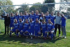 Sidley United celebrate after winning the East Sussex Football League Premier Division title back in April