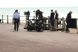 Film crews have been spotted near Hastings Pier