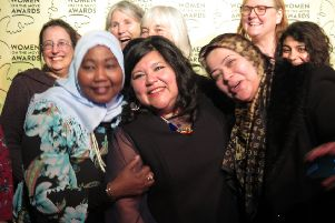 Rossana Leal (centre) with friends at the Women on The Move Awards