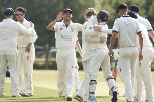 Hastings celebrate a wicket in their last game. Picture courtesy of Liz Pearce.