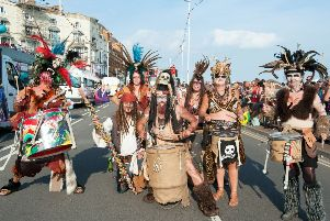 Hastings Old Town Carnival Week: Carnival procession. Photo by Frank Copper SUS-180508-083901001