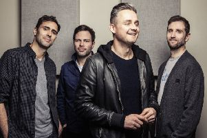 Tim Rice-Oxley (left) with Jesse Quin, Tom Chaplin and Richard Hughes. Picture by Alex Lake