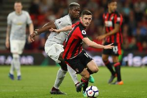 Bournemouth midfielder Lewis Cook is admired by the Premier League giants