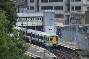 File pic. Southern train at Hastings Station