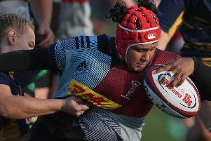 Davinia Catlin of Harlequins Ladies (Photo by Steve Bardens/Getty Images for Harlequins)