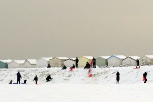 Lancing Beach Green in the snow in December 2010