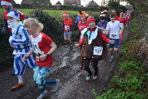 Action from the Christmas Pudding Dash