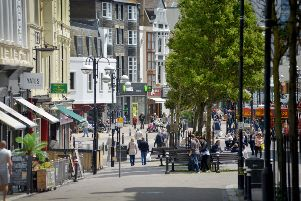 Hastings Town Centre - taken from Robertson Street