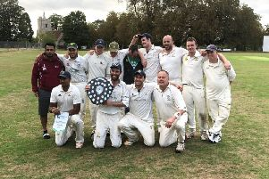 Potten End with the Herts Village Trophy on Sunday at Knebworth Park CC.
