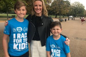 TV Presenter Gabby Logan joined patients from Great Ormond Street Hospital (GOSH), their families and employees from Royal Bank of Canada to officially launch this year's RBC Race for the Kids fun run in Hyde Park which will raise funds for Great Ormond Street Hospital Children's Charity.