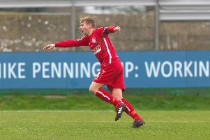 Hemel Town skipper Jordan Parkes netted the opener against Hungerford Town on Saturday. (File picture: Marc Keinch).