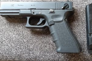 Imitation firearm recovered from the warrant