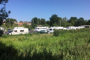 The illegal encampment in Queensway Car Park