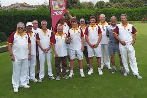 The Berkhamsted Bowls Club team that won the Watford & District Griffin Cup last week.
