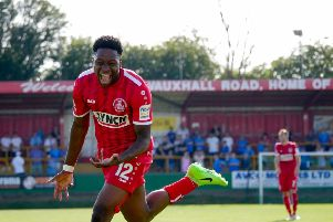 Hemel striker Ricardo German came off the bench to score two goals and added an assist against Billericay on  Monday. (Picture by Ben Fullylove).