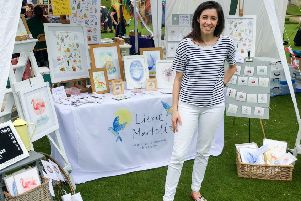 Lizzie Martell at her stall at the Hospice of St Francis Garden Party this year.