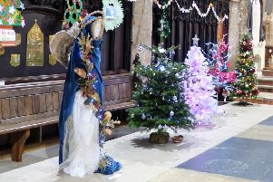 Last year's tree festival had stars, but this year a new theme will be ringing out through St Mary's Church. Picture: Stefan Urbanowicz.