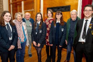 Members of Horncastle Memory Matters were welcomed by students. Picture: John Aron Photography.
