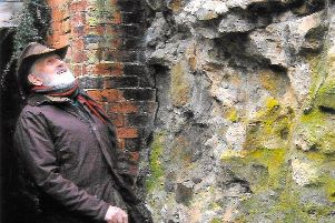 The Roman wall at Horncastle Community Centre is considered to be the most 'at risk' section