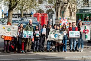 The climate change protest in Horncastle on Friday March 15.