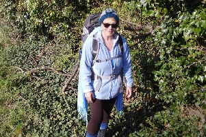 Sylvia Hanna, pictured training near her home in South Cockerington earlier this week.