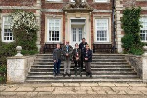 MP Victoria Atkins meets the National Trust team responsible for conservation and maintenance at Gunby Hall. EMN-190619-123309001