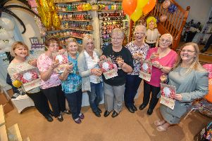 Pictured from left are Barbara Limb (Coningsby), Hazel Holland (Butterwick), Mary Limb, Lorainne Hill (Horncastle), Shirley Limb (Kirton),  Margaret Bedford (Wainfleet),  Joyce Waite (Boston), and Vanessa Haw (Coningsby). Missing are Jane Reeson (Wainfleet) and Trudie Smart (Boston). Picture: John Aron.