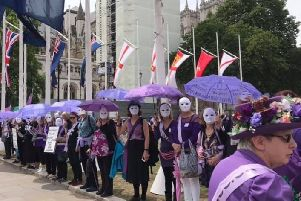 WASPI campaigners.