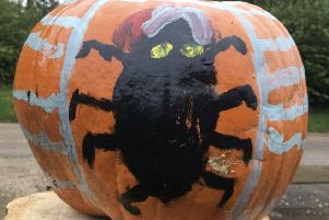 One of the pumpkins decorated by Wragby Brownies