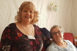 Age UK Lindsey volunteer befriender Fiona, with Pauline, who are promoting the service during National Befrienders Week, which runs until November 7.