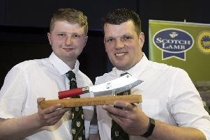 The Butchers Wars Pairs Winners Hamish Jones (left) and Steven Cusack from Davidson Specialist Butcher