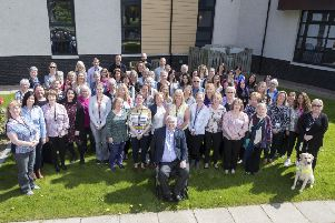 Members of staff, board members and volunteers at the recent CLAN gathering