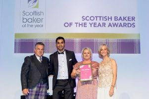 J G Ross accept their Scottish Baker of the Year accolades