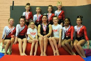Garioch Glitter Girls in action at Liverpool Open competition