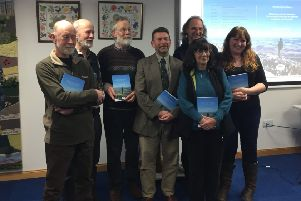 Book contributors Barry Foster, Colin Miller, Andrew Wainwright, Iain Ralston, Christine Foster, Colin Shepherd and Moira Blackmore at the launch