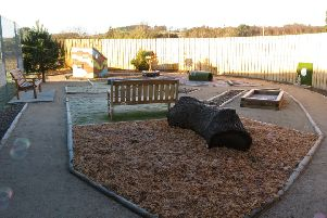 The new 'Woof Top' sensory garden at the Scottish SPCA's Drumoak centre