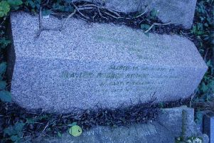 George and Anne's gravestone in Lillington.