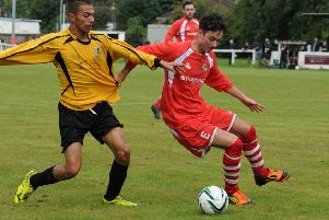 Marc Passey, right, was on target for Midland Rangers in their 3-0 win over Leek Wootton.