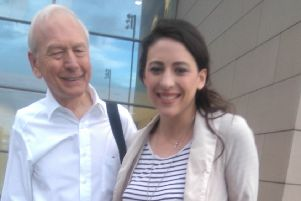 Madeleine Grant (right) with Mastermind presenter John Humphrys