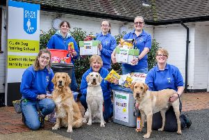 The Guide Dogs for the Blind, are running a recycling scheme whereby people can drop crisp packets and dog food pouches into them, to send off to recycle.