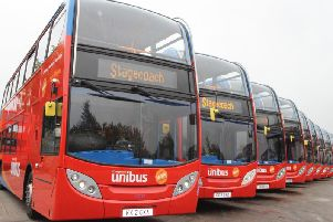 Stagecoach Unibuses. Photo supplied.