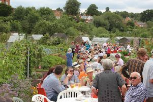 Anniversary celebrations at the Odibourne Allotments