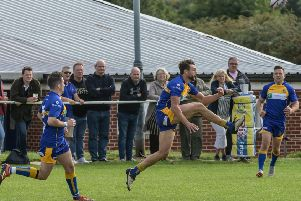 Action from Kenilworth's Midlands One West opener at home to Stourbridge Lions. Pictures: Lou Smith