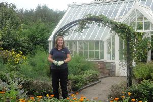 Emma O'Neil, head gardener at Garden Organic, on site where the new demonstration and training garden will be built