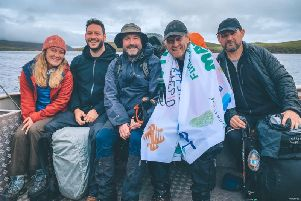 Paris Palmer, Josh Williams, Rob Simcock, Martyn Wells and Andrew Mayhew took on the Cape Wrath Trail .